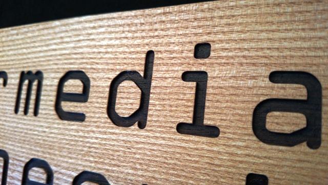 Türschild Detail